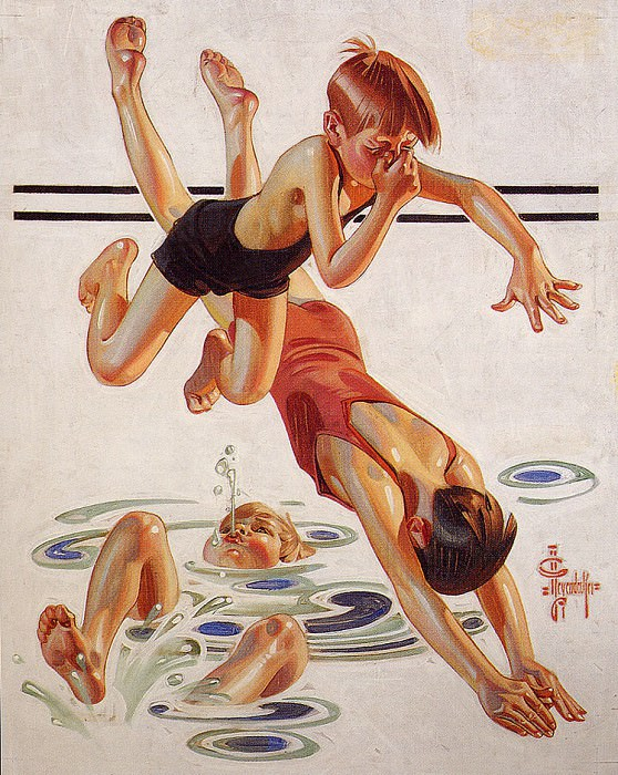 SwimminHole. Joseph Christian Leyendecker