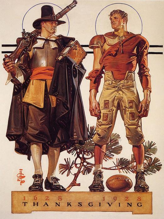Thanksgiving1628-1928. Joseph Christian Leyendecker