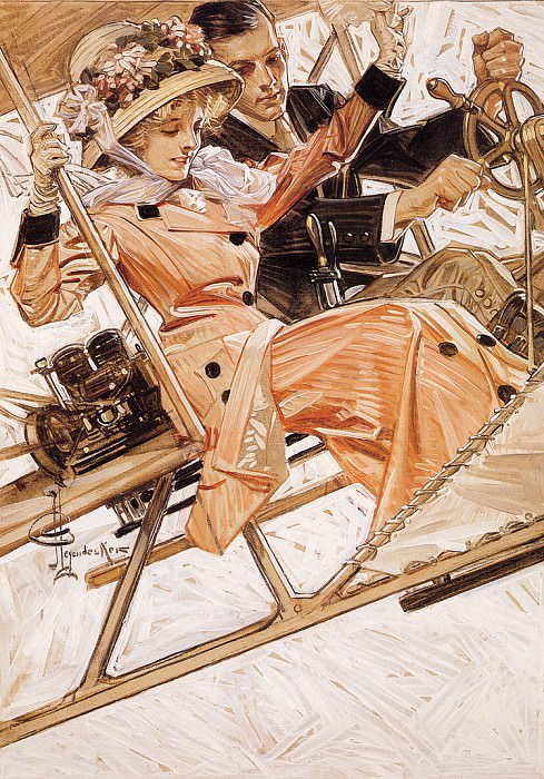 FlyingInStyle. Joseph Christian Leyendecker