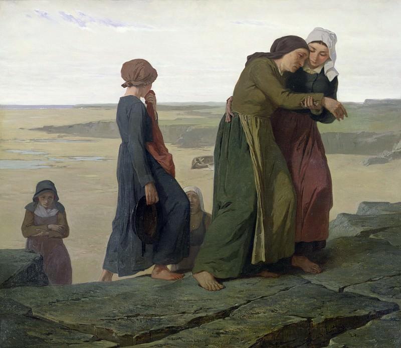 The Widow (The Fisherman's Family). Evariste Vital Luminais