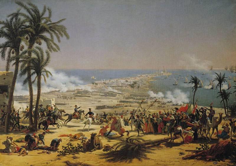 The Battle of Aboukir 25th July 1799. Louis Lejeune