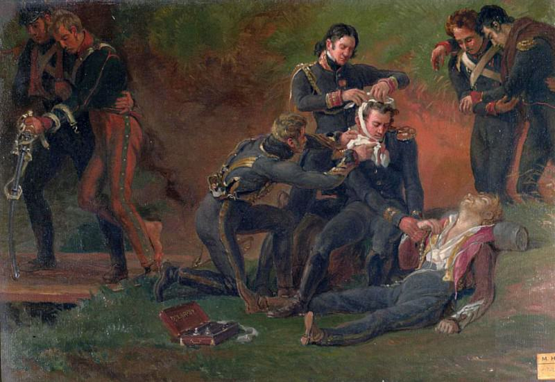 Baron Jean Dominique Larrey (1766-1843) Tending the Wounded at the Battle of Moscow. Louis Lejeune