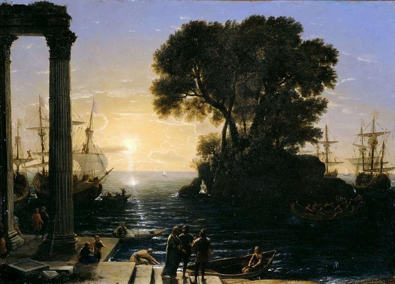 Прибрежная сцена с посадкой на корабль Святого Павла. Лоррен Клод