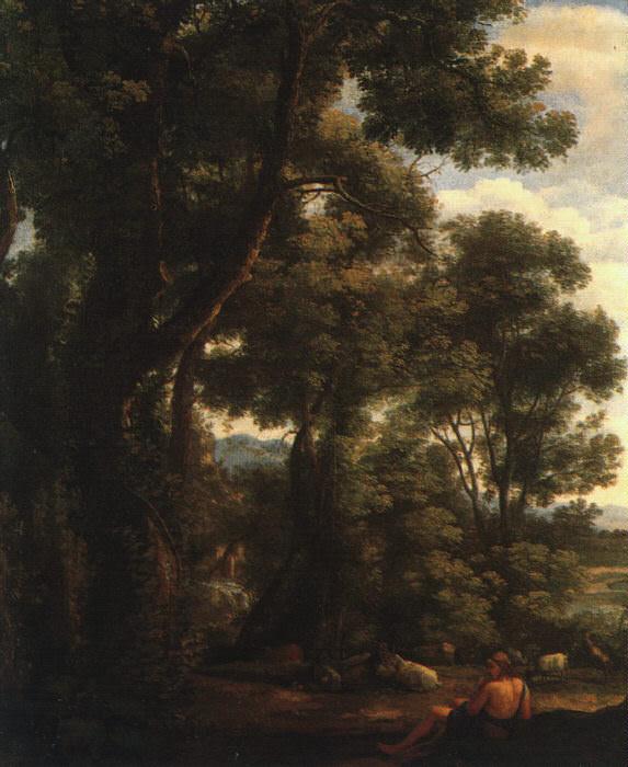 Lorrain Landscape with Goatherd, 1636, oil on canvas, Nation. Claude Lorrain