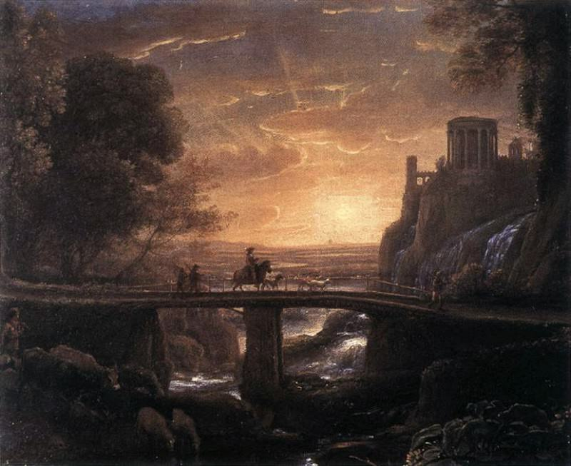 Imaginary View of Tivoli. Claude Lorrain