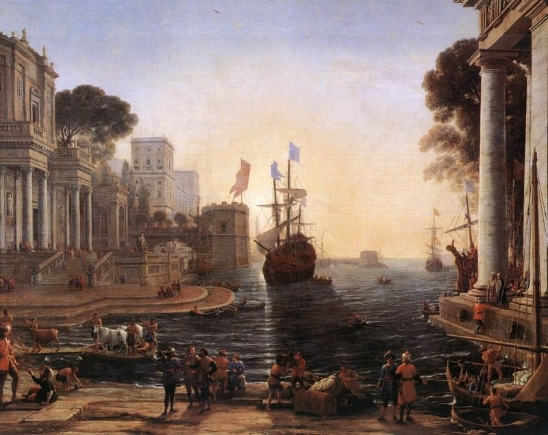 Ulysses Returns Chryseis to her Father. Claude Lorrain