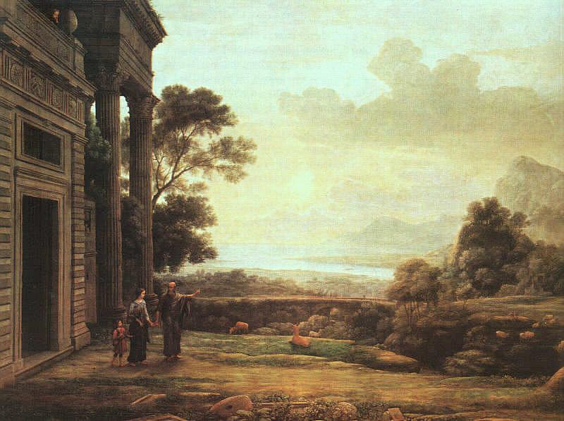 Изгнание Агари, 1668. Лоррен Клод
