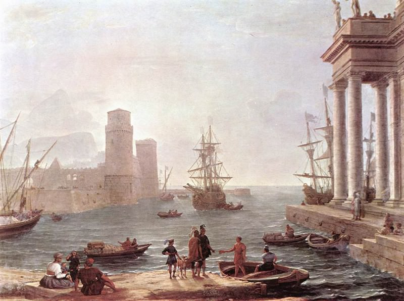 Departure of Ulysses from the Land of the Feaci. Claude Lorrain