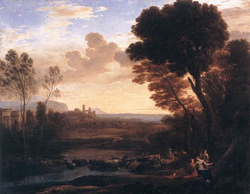 Пейзаж с Парисом и Эноной. Лоррен Клод