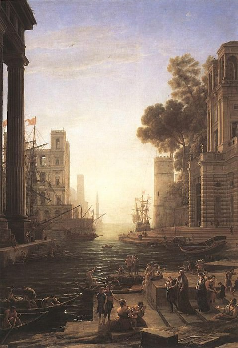 Embarkation of St Paula Romana at Ostia. Claude Lorrain