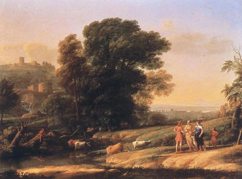 Пейзаж с Кефалом и Прокридой, воссоединившихся с помощью Дианы. Лоррен Клод