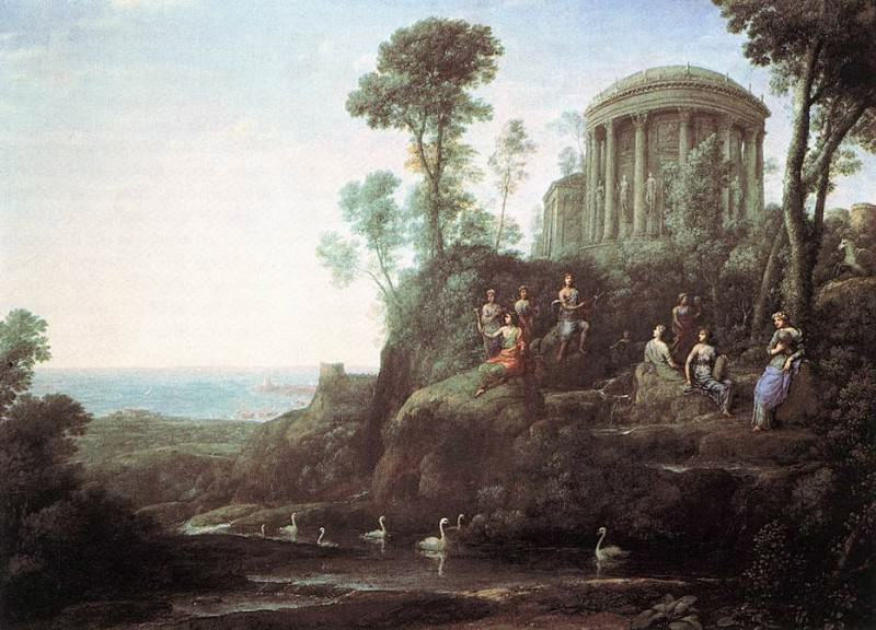 Apollo and the Muses on Mount Helion Parnassus. Claude Lorrain