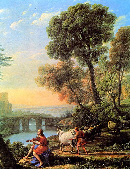 Landscape with Apollo and Mercury. Claude Lorrain