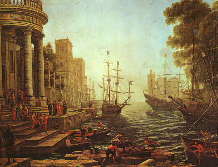 Seapor The Embarkation of St. Ursula, 1641, Nationa. Claude Lorrain