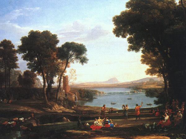 Пейзаж с обручением Исаака и Ревекки, 1648. Лоррен Клод