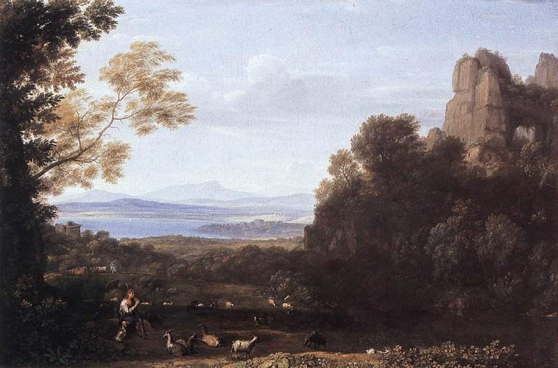 Пейзаж с Аполлоном и Меркурием. Лоррен Клод