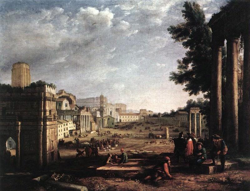 Место вакцинации в Риме (Кампо Ваччино). Лоррен Клод