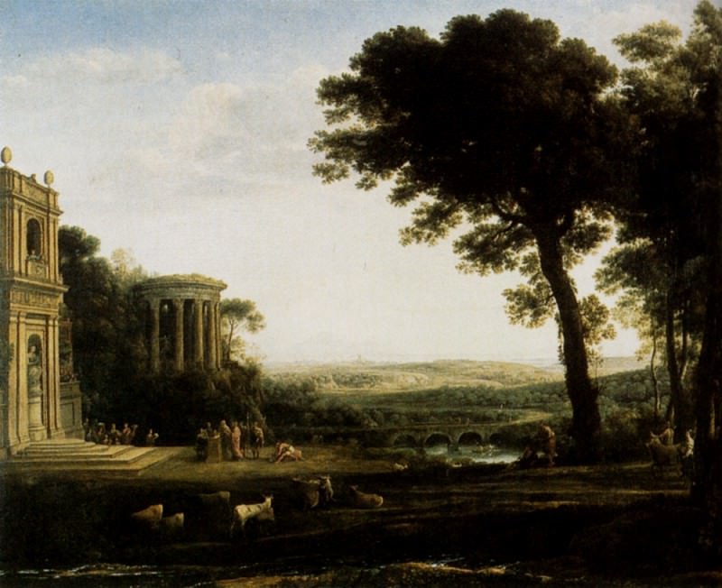 Landscape With A Sacrifice To Apollo. Claude Lorrain