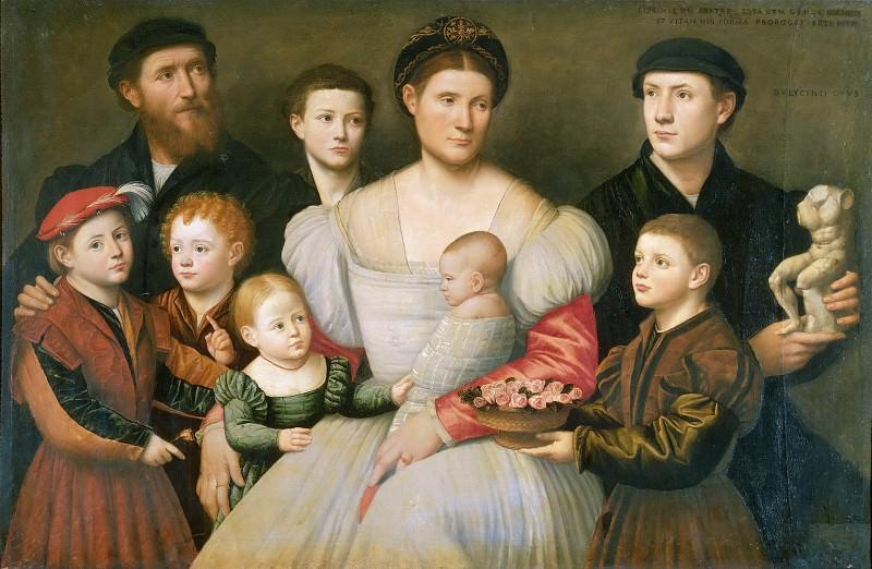 Portrait of Arrigo Licinio and his Family. Bernardino Licinio