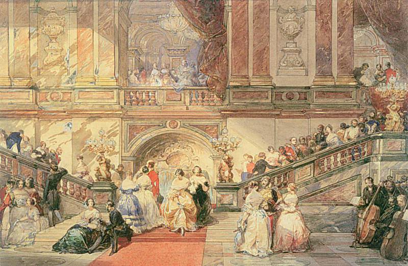 A Ball at the Town Hall. Eugene-Louis Lami