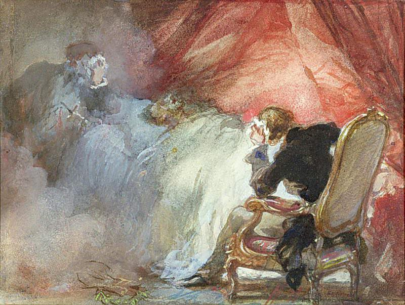La Nuit de Decembre from Les Nuits by Alfred de Musset. Eugene-Louis Lami
