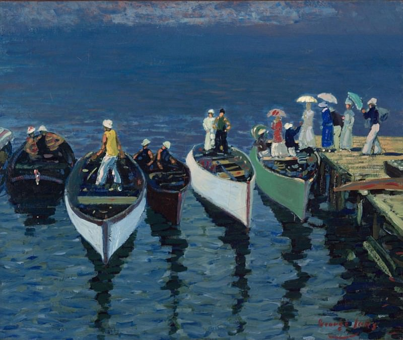 Holiday on the Hudson. George Luks