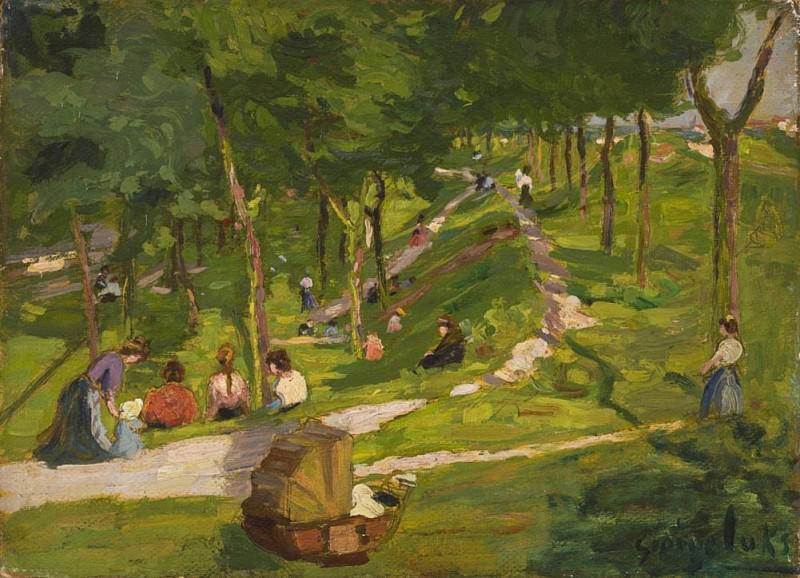 New York Park. George Luks