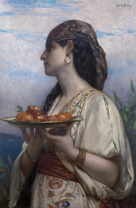 Невольница с тарелкой фруктов. Жюль-Жозеф Лефевр