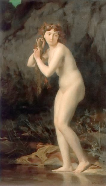 A Bathing Nude. Jules-Joseph Lefebvre