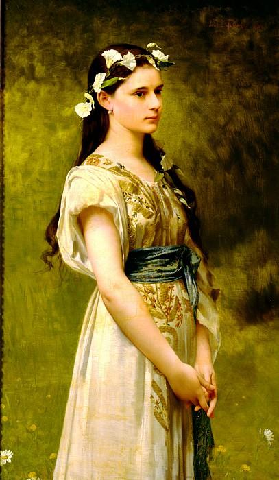 Portrait of Julia Foster Ward. Jules-Joseph Lefebvre