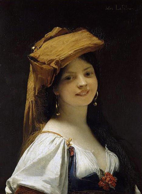 Улыбающаяся девушка. Жюль-Жозеф Лефевр