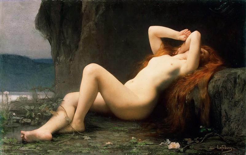 Mary Magdalene In The Cave. Jules-Joseph Lefebvre