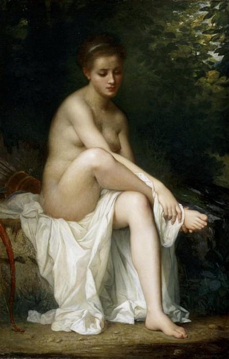 Ismenie, Nymph of Diana. Charles Zacharie Landelle