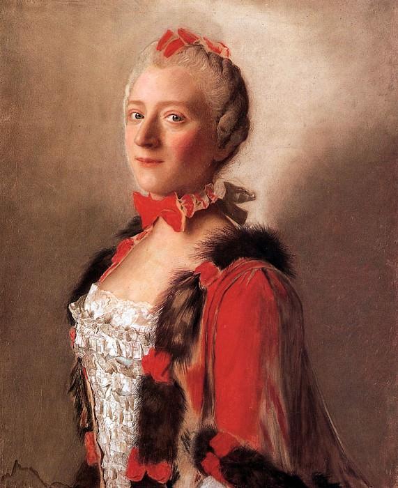 Liotard Jean-Etienne Portrait of a lady at the court Sun. Jean Etienne Liotard