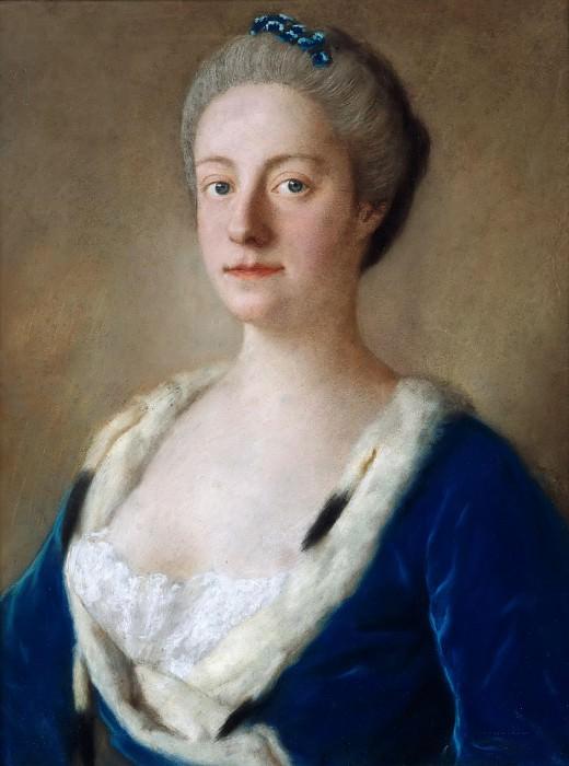 Portrait Maria Doublet van Groenstein, Lady Holderness. Jean Etienne Liotard