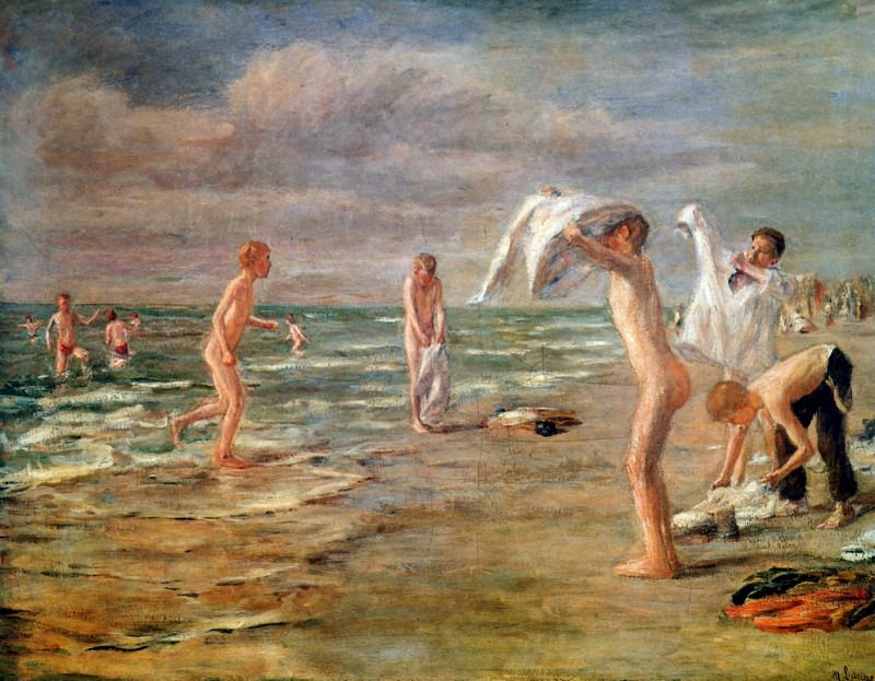 Swimming boys. Max Liebermann