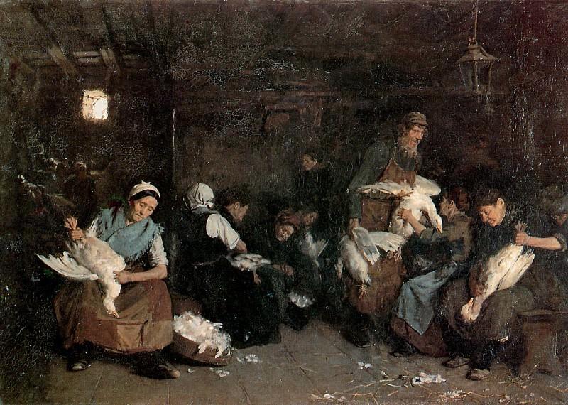 Women plucking geese. Max Liebermann