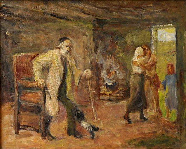 Die Heimkehr des Tobias; The Return of Tobias 1934. Max Liebermann