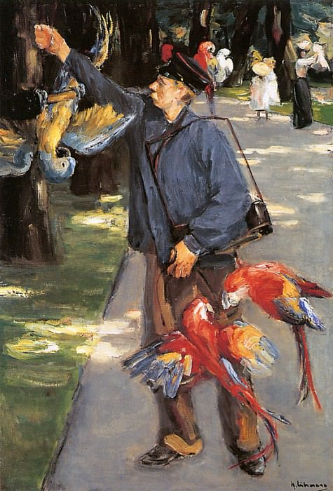 Parrot caretaker in Artis. Max Liebermann
