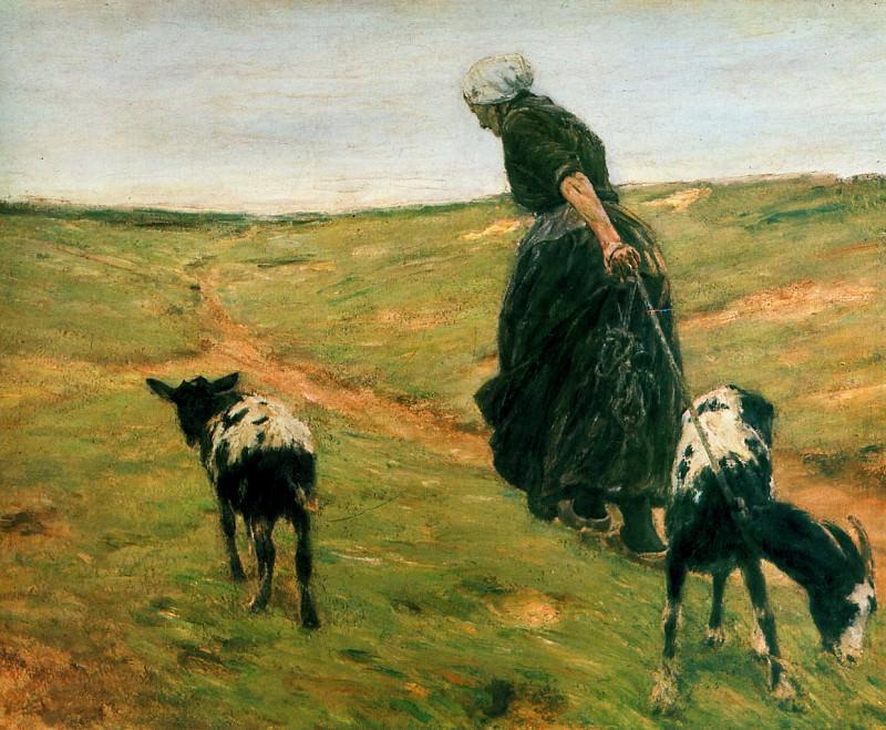 Woman with goats. Max Liebermann