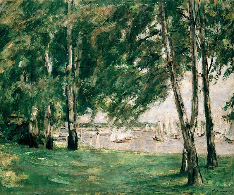 Lake Wannsee in Berlin in Sunlight. Max Liebermann