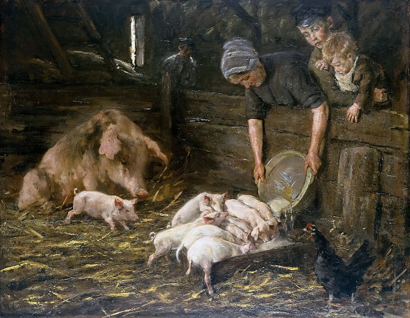 Pigsties. Max Liebermann