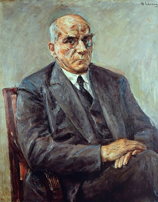 The Prussian Prime Minister Otto Braun. Max Liebermann