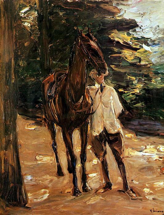 Man with horse. Max Liebermann