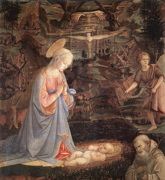 Adoration Of The Child With Saints 1463. Fra Filippo Lippi