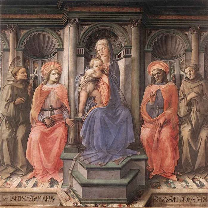Madonna Enthroned With Saints. Fra Filippo Lippi