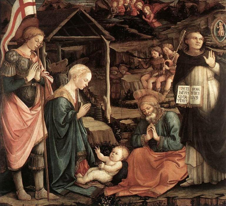 Adoration Of The Child With Saints 1460 65. Fra Filippo Lippi