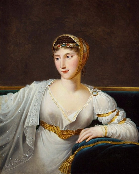 Portrait of Princess Pauline Borghese, wife of General Leclerc. Robert Lefevre