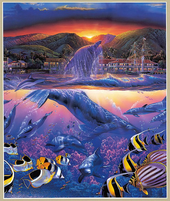 Lahaina Visions Triptych MiddleL. Christian Riese Lassen