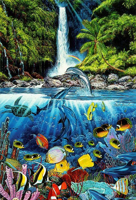 kb Lassen Greeting Cards Eternal Rainbow Sea. Christian Riese Lassen